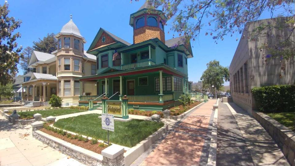 114 W. Vine Street, originally Redlands Community Hospital in 1903-1904, now a medical office for Mission Pediatrics