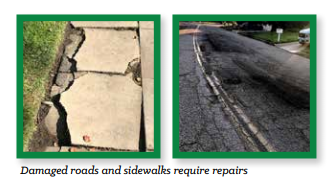 Damaged Roads & Sidewalks