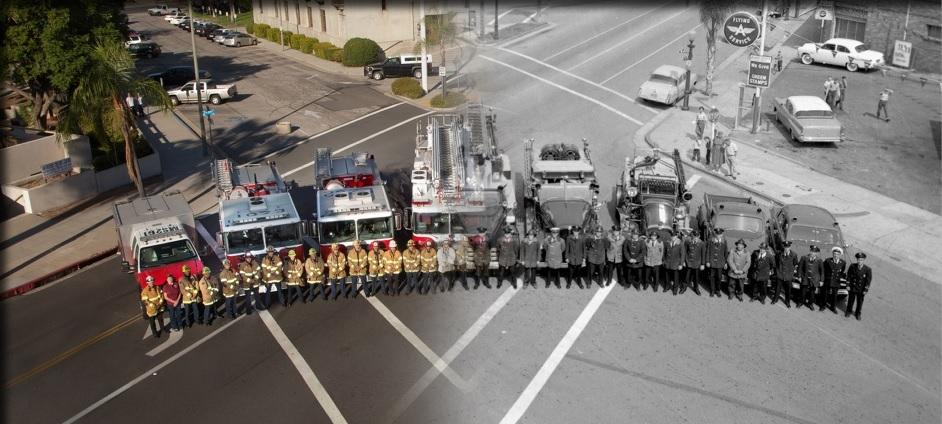 Redlands Fire Department Left side today right side yesterday